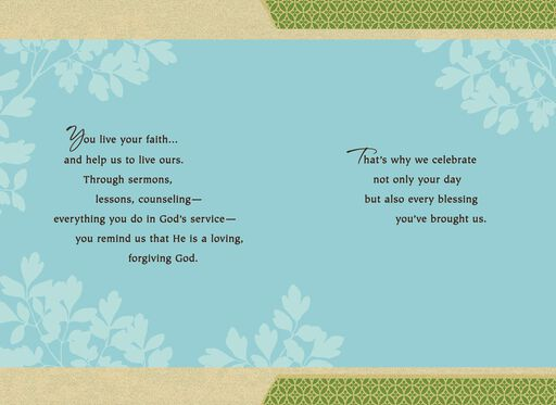Leafy Branches Anniversary Card for Priest,