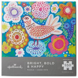 Bright Bold & Happy 550-Piece Puzzle, , large