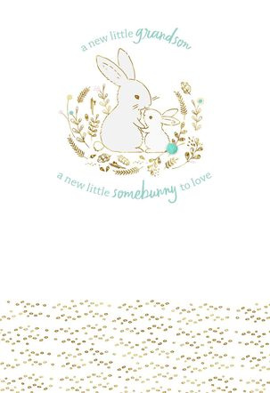 Somebunny to Love New Baby Boy Card for Grandparents