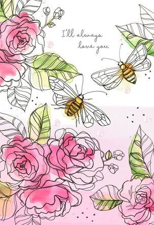 Roses and Bees Anniversary Card