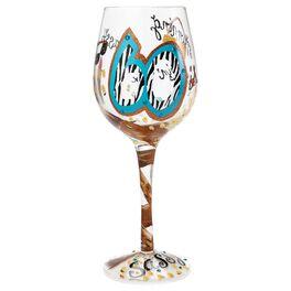 Lolita® 60 is Sassy Handpainted Wine Glass, 15 oz., , large