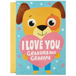 Puppy Love Hug Grandparents Day Card, , large