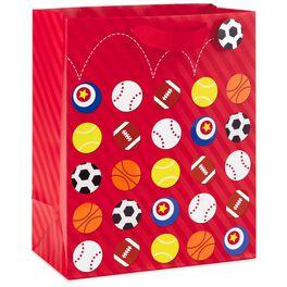 """Sports Balls Large Gift Bag, 13"""", , large"""