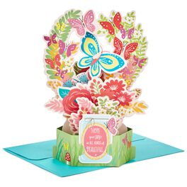 Butterfly Bouquet Pop Up Just Because Card, , large