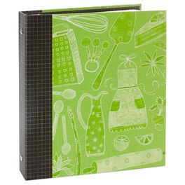 Whimsical Green Recipe Organizer Book, , large