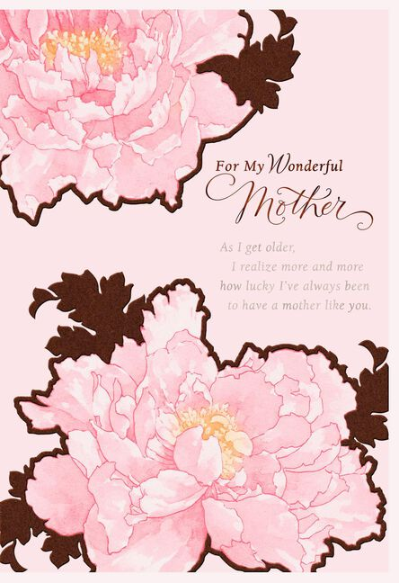 So Lucky To Have A Mother Like You Birthday Card For Mom Greeting