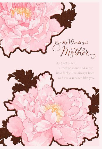 So Lucky To Have A Mother Like You Birthday Card For Mom