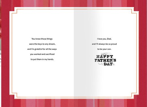Proud to Be Your Son Father's Day Card,