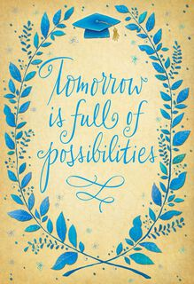 Possibilities of Tomorrow Graduation Card,