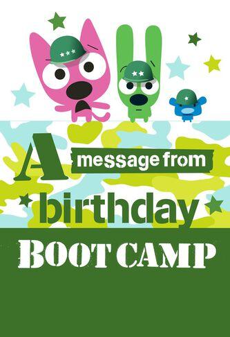 Imgenes de hallmark ecards birthday hoops and yoyo hoopsyoyo boot camp birthday card with sound m4hsunfo