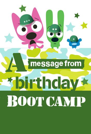 HoopsyoyoTM Boot Camp Birthday Card With Sound