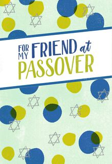 For My Friend Passover Card,