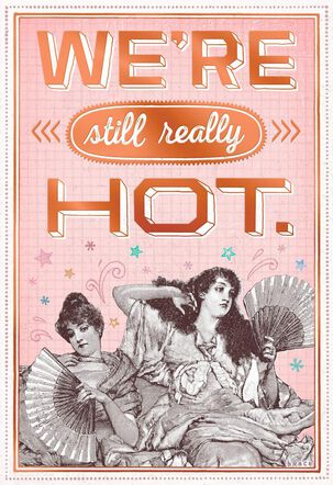 Flashes of Hot Funny Birthday Card