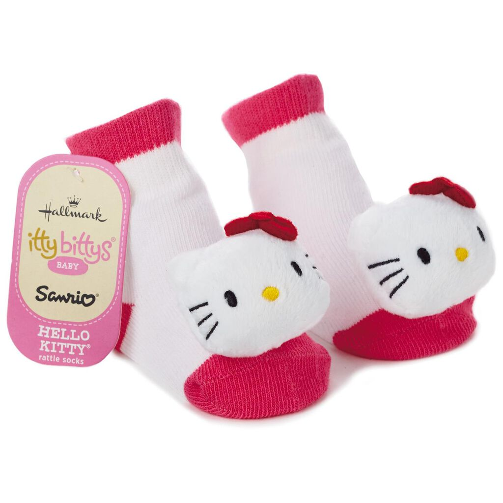 24dad12eb Hello Kitty® itty bittys® Baby Rattle Socks - Baby Clothes - Hallmark