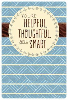Thoughtful and Smart Admin Professionals Day Card,
