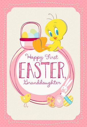 Looney Tunes™ Tweety™  Pile on the Hugs Easter Card for Granddaughter
