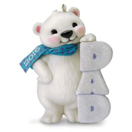 Polar Bear Dad Ornament, , large