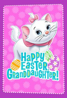 Disney Aristocats Marie Easter Card for Granddaughter,