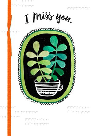 Succulent Plant Miss You Card