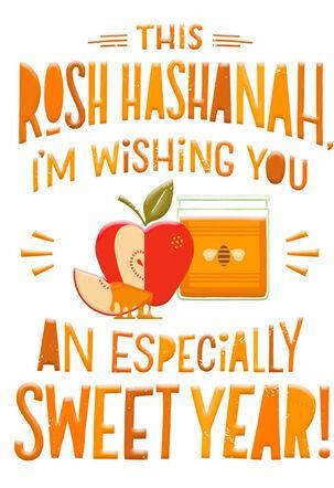 A Super Sweet Year Funny Rosh Hashanah Card