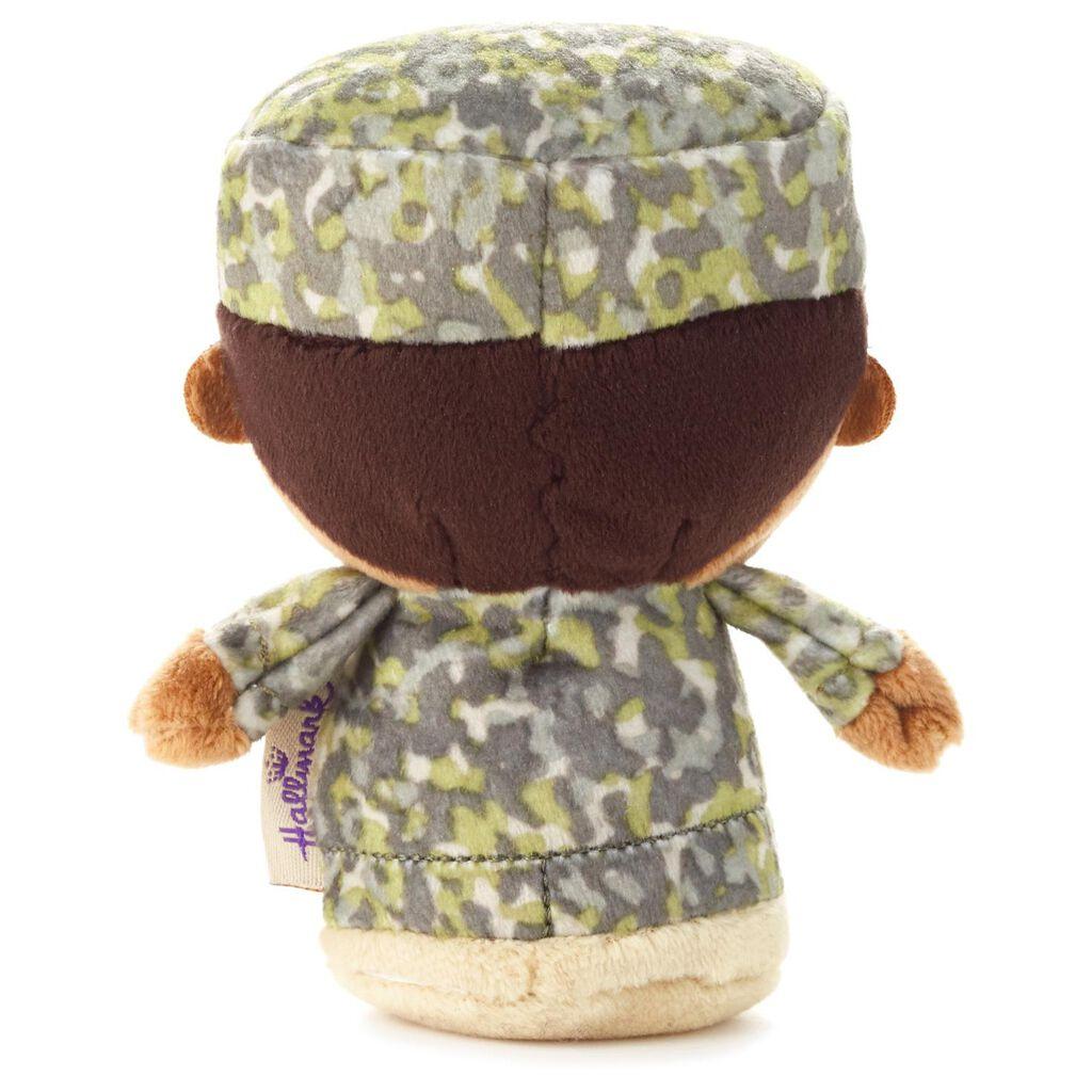 Itty Bittys Green Camo African American Boy Stuffed Animal Itty