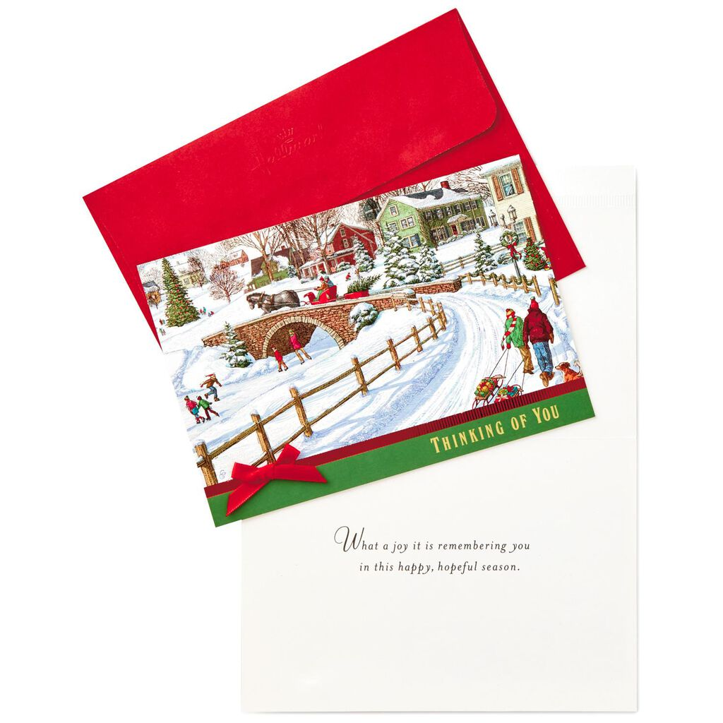 Horse-drawn Carriage Winter Scene Christmas Cards, Box of 12 - Boxed ...