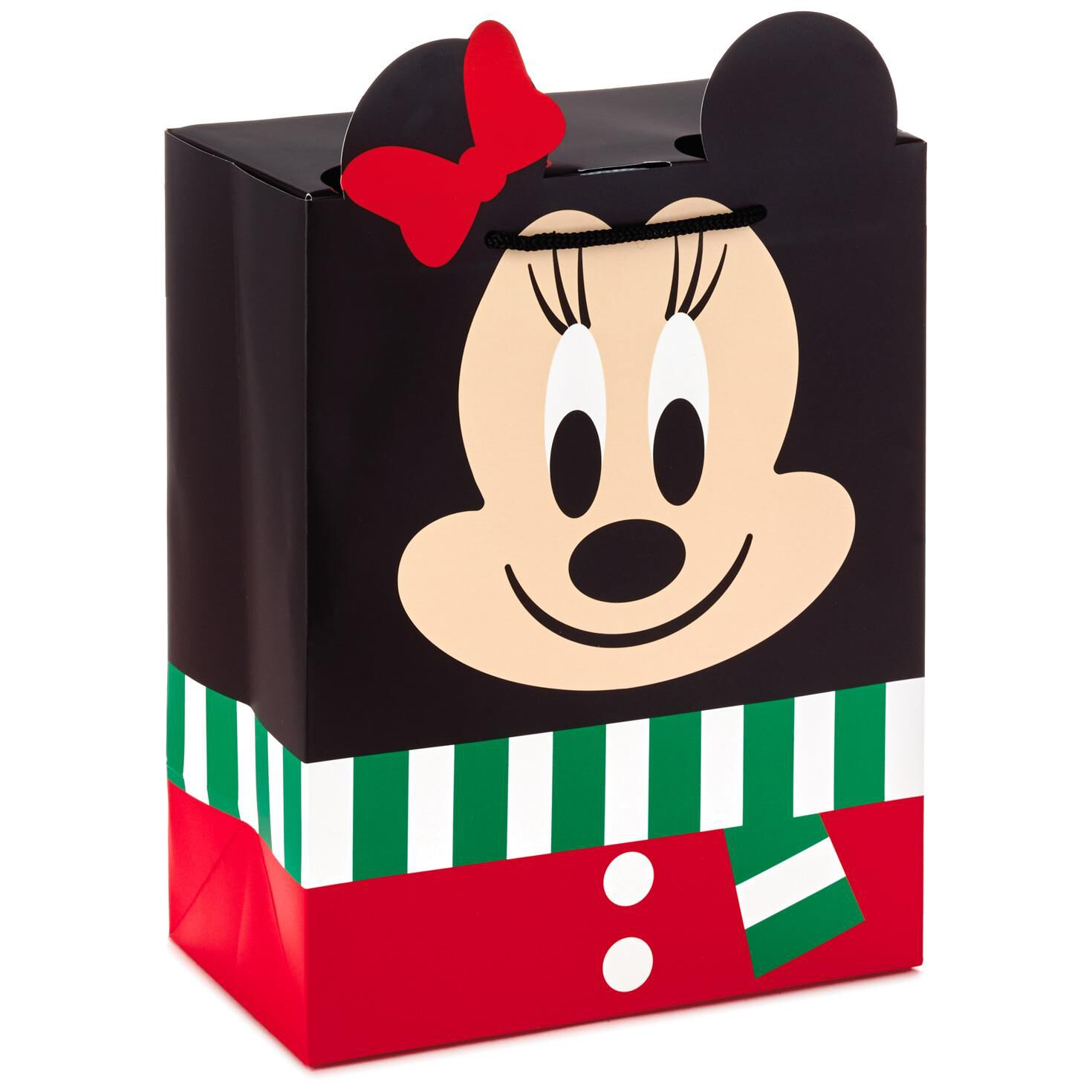 Disney Minnie Mouse Medium Closed Top Christmas Gift Bag, 9.5 ...