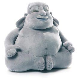 Gund HUGGY BUDDHA Grey Large Stuffed Animal, , large