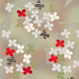 Butterflies and Cherry Blossoms Blank Card