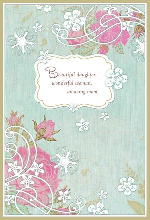 Wonderful Woman, Amazing Mom Mother's Day Card for Daughter