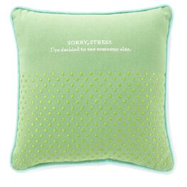 Sorry, Stress Small Pillow, , large