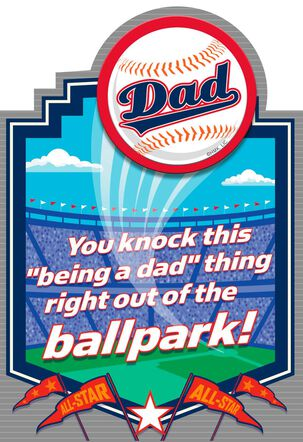 Crowd Goes Wild Father's Day Card With Button