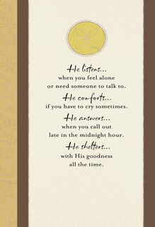 God Walks Beside You Religious Sympathy Card,