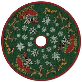 Mickey Mouse Oh, What Fun! Tree Skirt With Light, , large