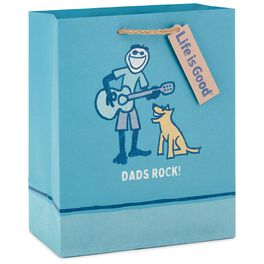 "Life is Good® Dads Rock Medium Gift Bag, 9.5"", , large"