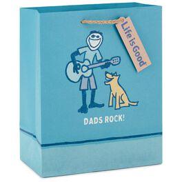 "Life is Good® Dads Rock Medium Gift Bag, 9.5"", , large"
