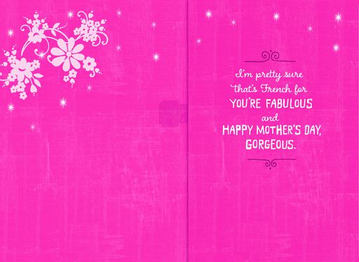 Eiffel Tower Musical Mother's Day Card,