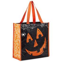 Jack-O'-Lantern Reusable Tote Bag, , large