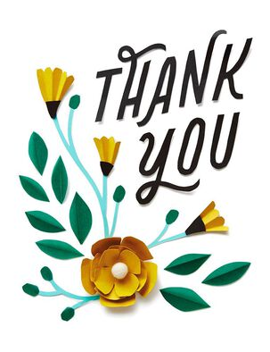 Flowers Blank Thank You Card