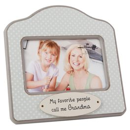 grandma polka dot wood photo frame 4x6 large