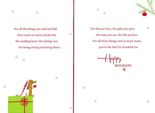 Thankful for You Christmas Card for Dad,