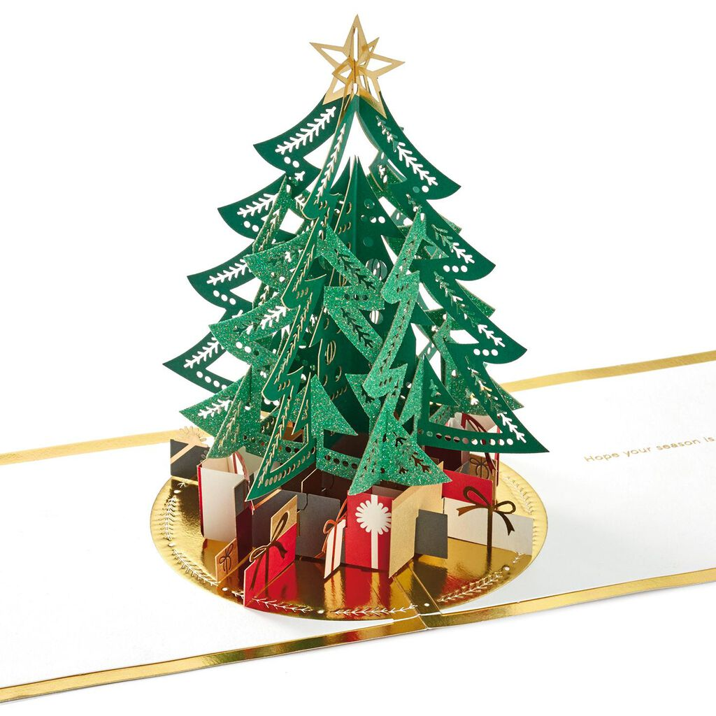 Tree With Presents 3d Pop Up Christmas Card