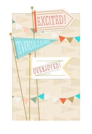 Banners and Flags Religious New Baby Card