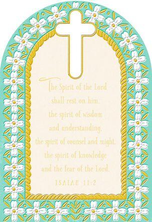 Strong in Faith Confirmation Card