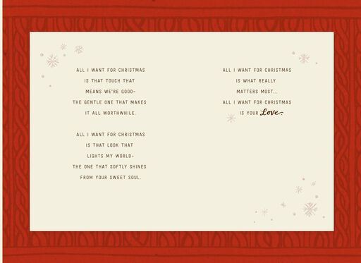 All I Want Is You Christmas Card,