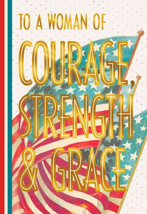 Courageous Female Veterans Day Card