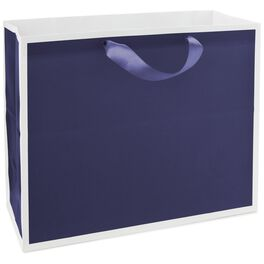 "Midnight Blue Large Gift Bag, 10.5"", , large"