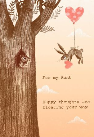 Bunny and Squirrel Valentine's Day Card for Aunt