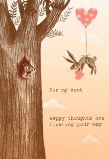 Bunny and Squirrel Valentine's Day Card for Aunt,