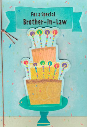 Layer Cake Birthday Card for Brother-in-Law